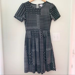 LuLaRoe Amelia Zipper Back Dress Fit and Flare M